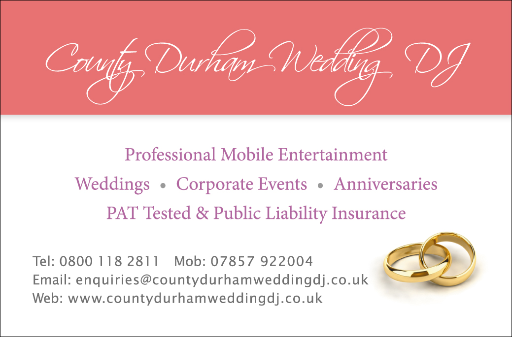 County Durham Wedding DJ Logo
